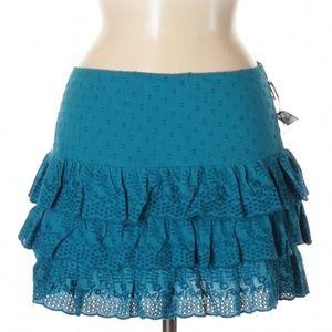 NWT Volcom ruffled blue skirt